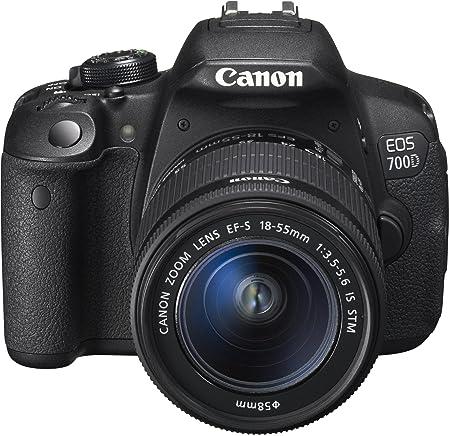 Canon EOS 700D Appareil photo numérique Réflex Kit Boîtier + Objectif 18-55 Mm IS STM 18 Mpix Noir