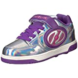 Heelys Girls' Plus X2 Sneaker, Silver/Purple/Pink, 12 Medium US Little Kid (Color: Silver/Purple/Pink, Tamaño: 12 M US Little Kid)