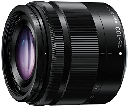 PANASONIC LUMIX G Vario Lens, 35-100mm, F4.0-5.6 ASPH., Mirrorless Micro Four Thirds, MEGA Optical I.S., H-FS35100K (USA BLACK) at amazon