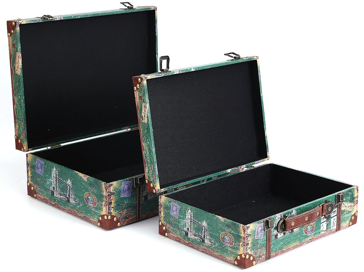 Vintiquewise(TM) Vintage Style European Luggage Suitcase, Set of 2