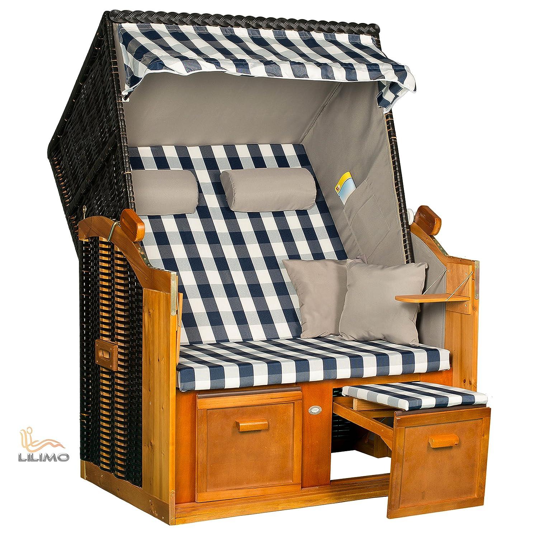 Strandkorb BALTIC BLB, Geflecht anthrazit, fertig montiert, LILIMO ® günstig online kaufen