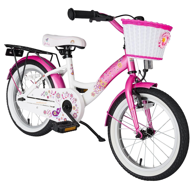 BIKESTAR® Premium Kinderfahrrad für sichere und sorgenfreie Spielfreude ab 4 Jahren ★ 16er Classic Edition ★ Flamingo Pink & Diamant Weiß jetzt bestellen