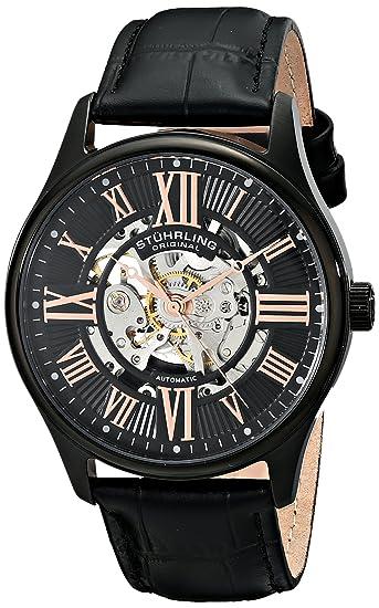 buy stuhrling original classic atrium analog black dial men s buy stuhrling original classic atrium analog black dial men s watch 747 03 online at low prices in amazon in