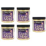 Sargent Art 22-1181 8-Ounce Liquid Metal Acrylic Paint, Gold (5-Pack) (Color: 5-Pack)