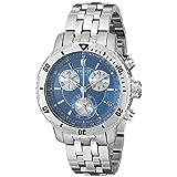 Tissot Men's T0674171104100 PRS 200 Blue Chronograph Dial Watch (Color: Blue)