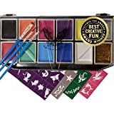 Award Winning Face & Body Paint Professional Palette by Eagle Art   Water Based Paint   Non-Toxic Hypoallergenic   FDA Approved Completely Safe Cosmetic Grade Face painting Kit   Ideal for Kids, Adult (Color: Face Paint, Tamaño: Face & Body Paint)