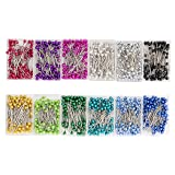Sewing Pins - 1200-Piece Ball Head Pins, Straight Quilting Pins with Pearl Heads for Dressmaking, Jewelry, Sewing Projects, 100 Each of 12 Assorted Colors, 1.4 Inches (Color: multicolored, Tamaño: 1200 Pieces, 12 Colors)