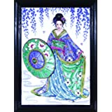 Design Works Crafts Counted Cross Stitch, Geisha, 12 by 16 inches