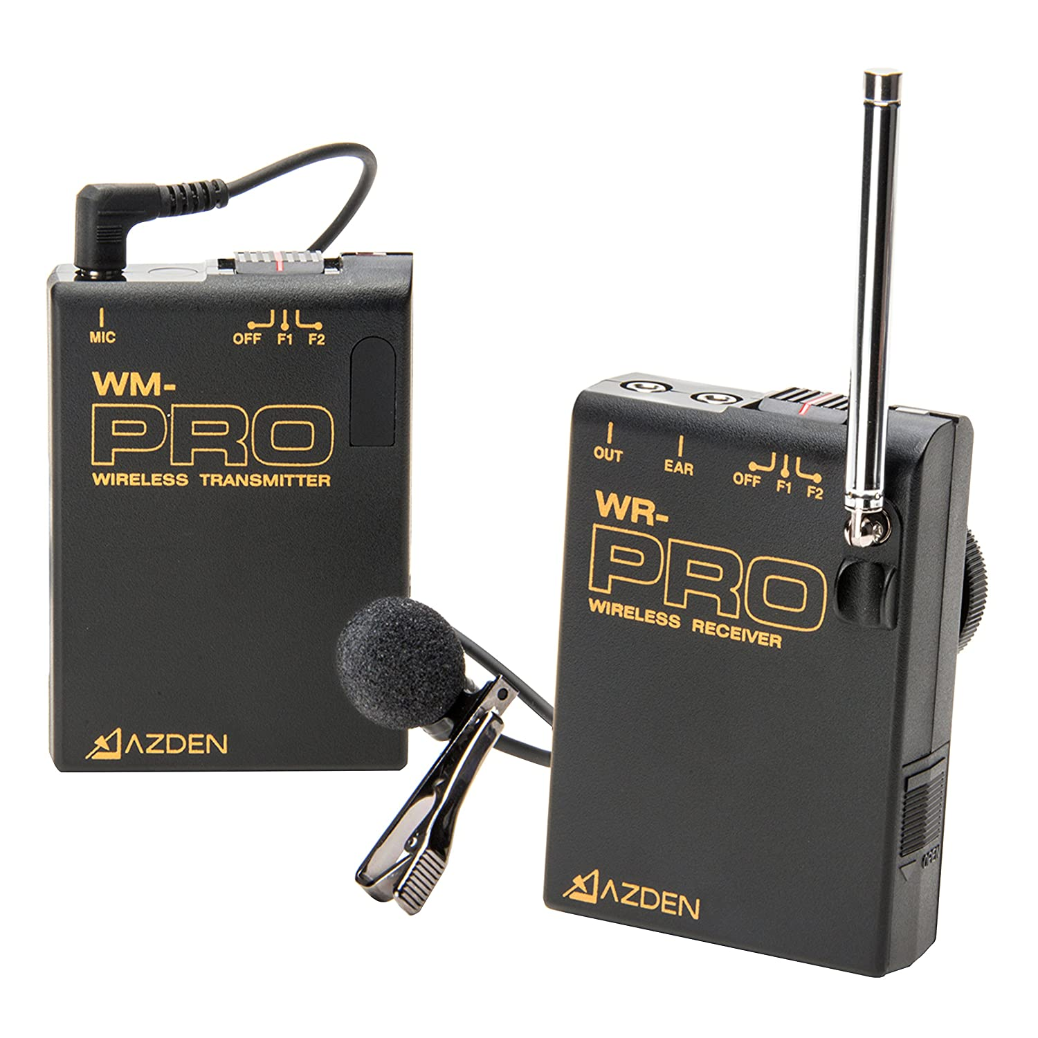 Movo WMIC50 2.4GHz Wireless Lavalier Microphone System (works with iphones)