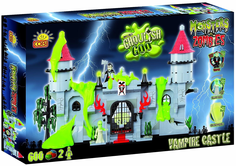 Monsters vs Zombies, Vampire (Dracula) Schloss mit glühend in den dunklen Gestalten, Bauklötzen von Cobi günstig