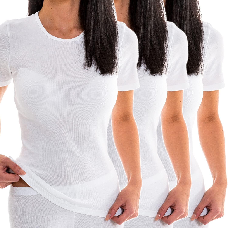HERMKO 1800 3er Pack Damen kurzarm Unterhemd günstig online kaufen