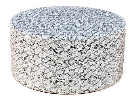 Tavolino da salotto divano tavolo Lounge tavolo tavolino rotondo in ecopelle serpente pelle finta