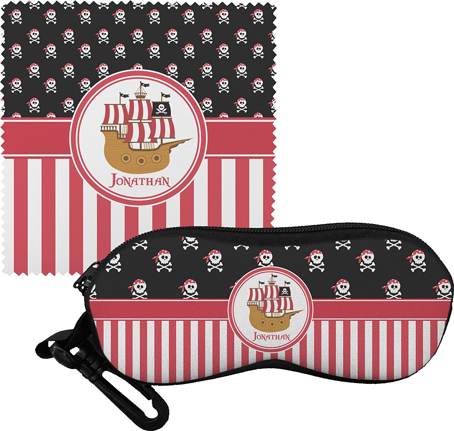 Pirate & Stripes Personalized Eyeglass Case & Cloth bmbe табурет pirate