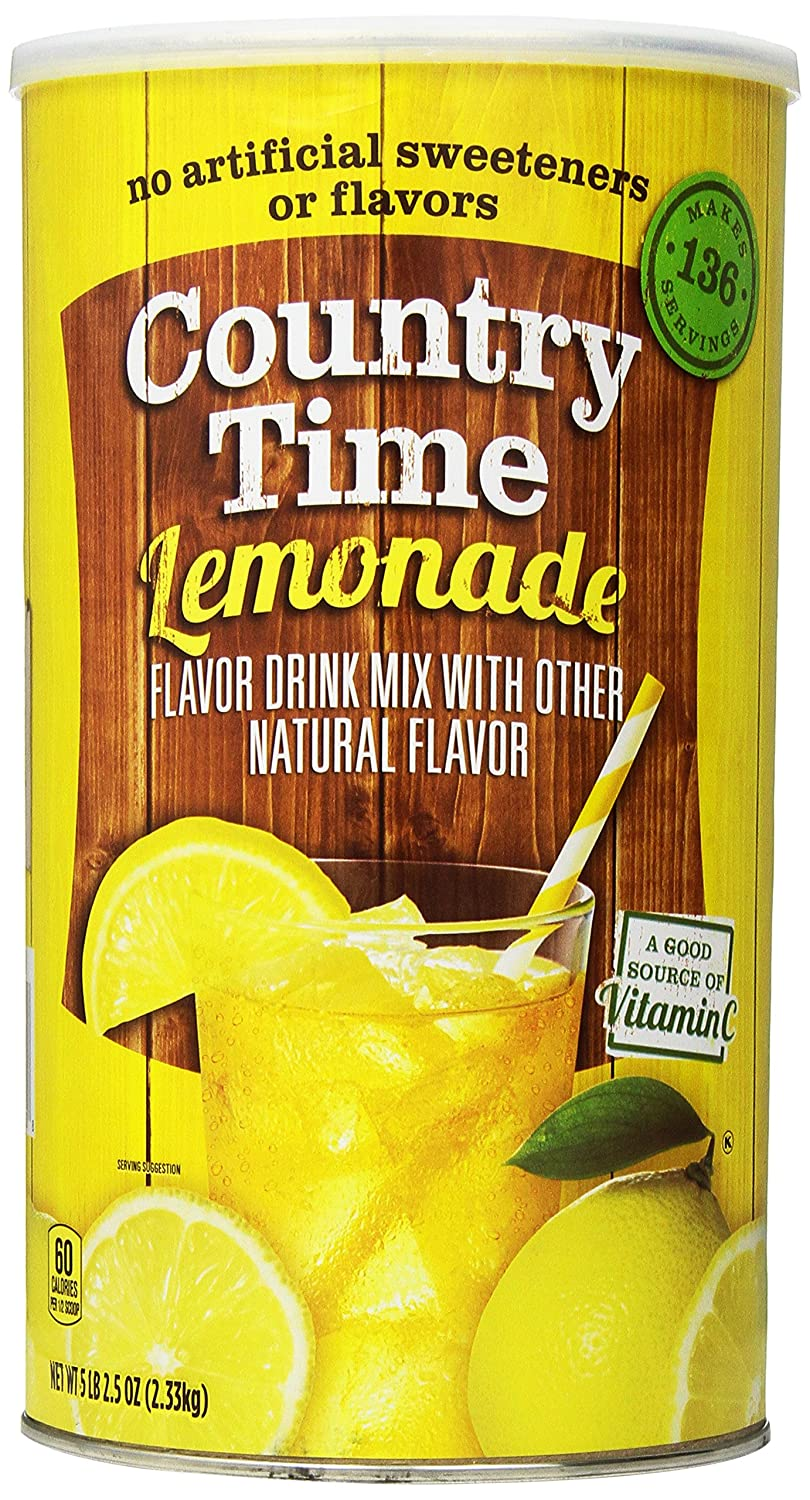 Country Time Lemonade Drink Mix Canister, 82.5 Ounce