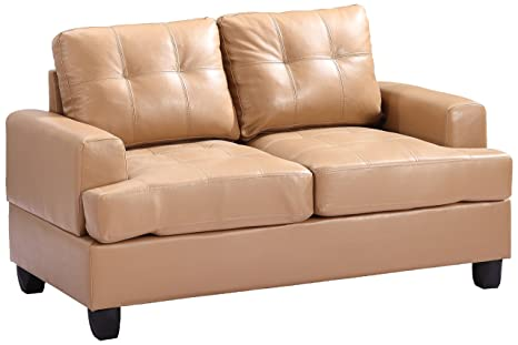 Glory Furniture G581A-L Living Room Love Seat, Tan