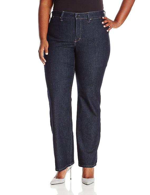 NYDJ Women's Plus-Size Wide Leg Trouser Jeans