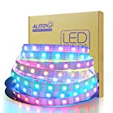 ALITOVE 12V WS2813 WS2812B LED Strip Light WS2815 Individually Addressable RGB LED Pixel Strip 16.4ft 300 LEDs Programmable Digital LED Light Not Waterproof White PCB for Arduino Raspberry Pi Project (Color: White Fpcb, Tamaño: 300 LEDs Not Waterproof)