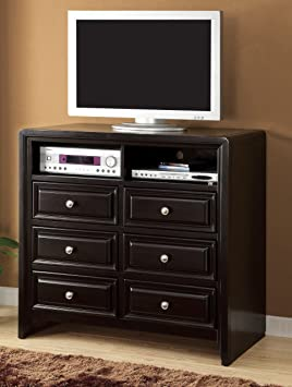 Furniture of America Kealso TV Console with Storage Drawer, Espresso Finish