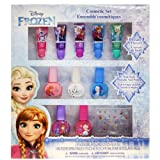 Townley Girl Disney Themed Super Sparkly Cosmetic Set with Lip Gloss, Nail Polish and Nail Stickers (Frozen) (Color: Frozen)
