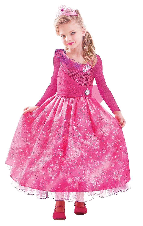 Amscan 997557 – Kinderkostüm Barbie und die geheime Tür Premium, circa 3 – 5 Jahre, Größe 104, pink günstig als Geschenk kaufen