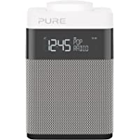Pure Pop Mini Portable DAB+/FM Clock Radio (Grey & White)
