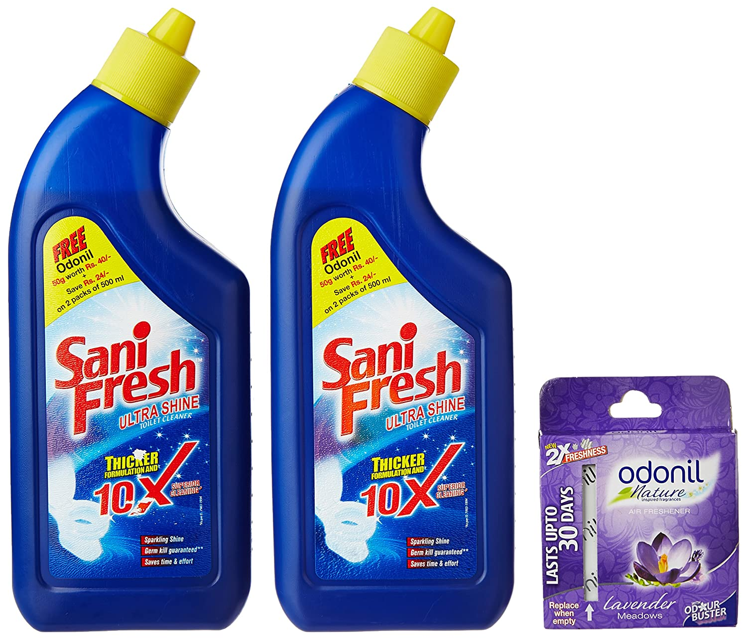 Free Odonil Air Freshner with Sanifresh Shine