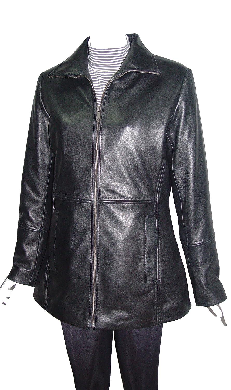 Nettailor WoHerren Plusgr??e 4186 weich Leder einfach leicht l?ssig lange Jacke günstig kaufen