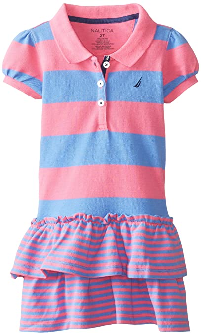 Nautica-Little-Girls-Mixed-Stripe-Pique-Polo-Dress-with-Double-Tier-Skirt