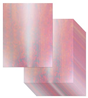 Foil Cardstock - 24-Pack Holographic White Foil Metallic Mirror Board Sheets for Arts and Crafts, 8.5 x 11 Inches, 350gsm Letter Sized Poster Board, Scrapbook Paper, DIY Card, Invitation Supplies (Color: Holographic, Tamaño: 8.5-x-11-Inch)