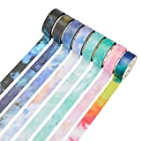RIANCY Fantasy Seris Multi Purpose Colored Washi Tapes Decorative Masking Tape Collection for Walls, Arts and Crafts, DIY, Scrapbook (Dream, 8 Rolls) (Tamaño: Dream, 8 rolls)