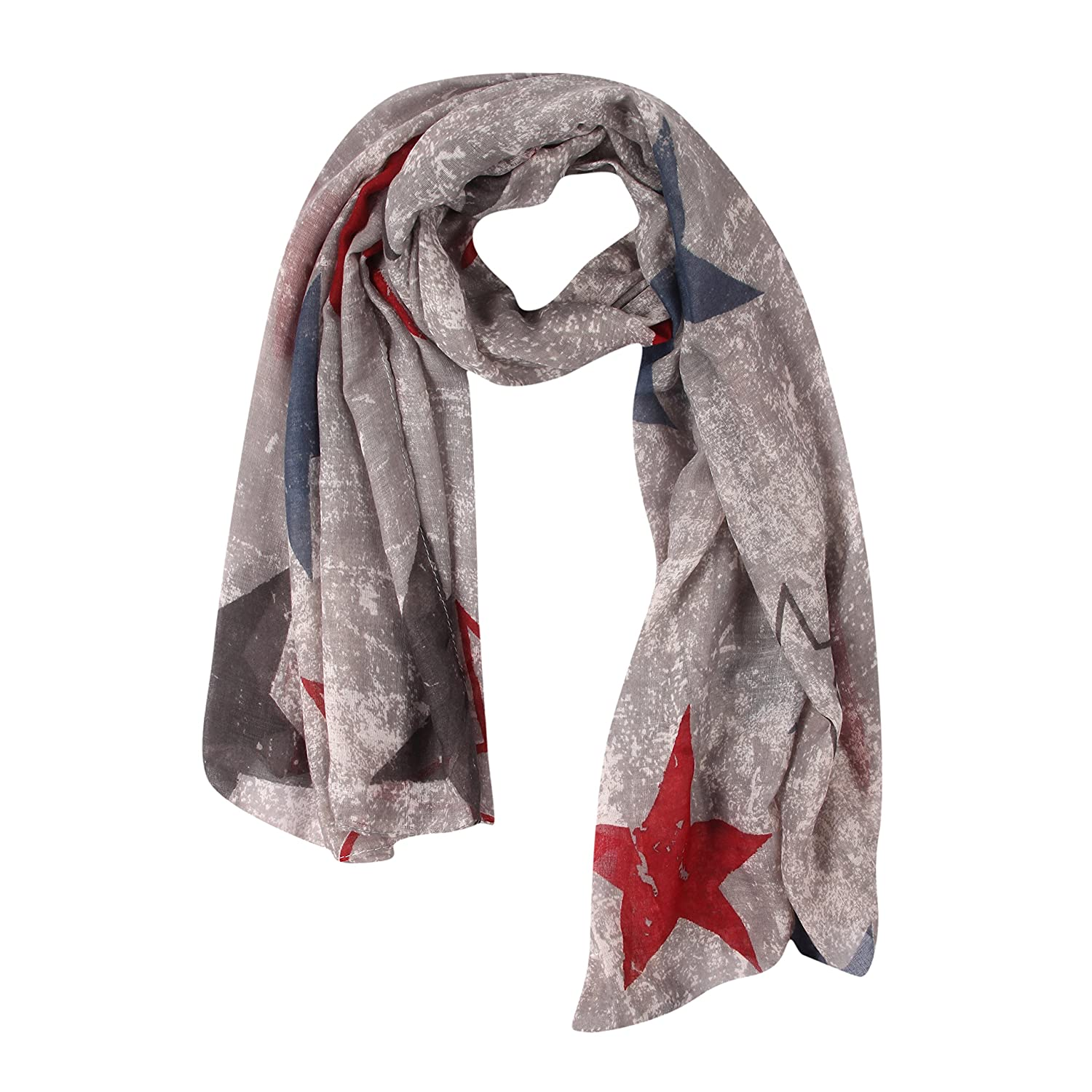 FabSeasons Gray Cotton Abstract Printed Scarf, Scarves, Stole and Shawl for Men & Women