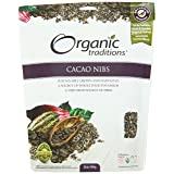 Organic Traditions Organic Nibs, Cacao, 16 Ounce