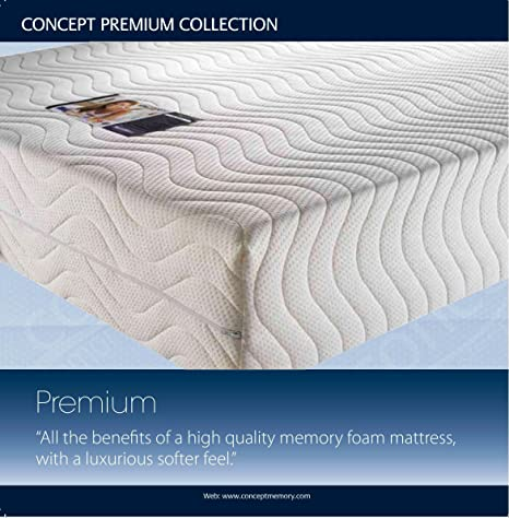 Concept Premium 4000 Double Memory Foam Mattress Double 46. Excellent Orthopaedic Support by Creating Comfort