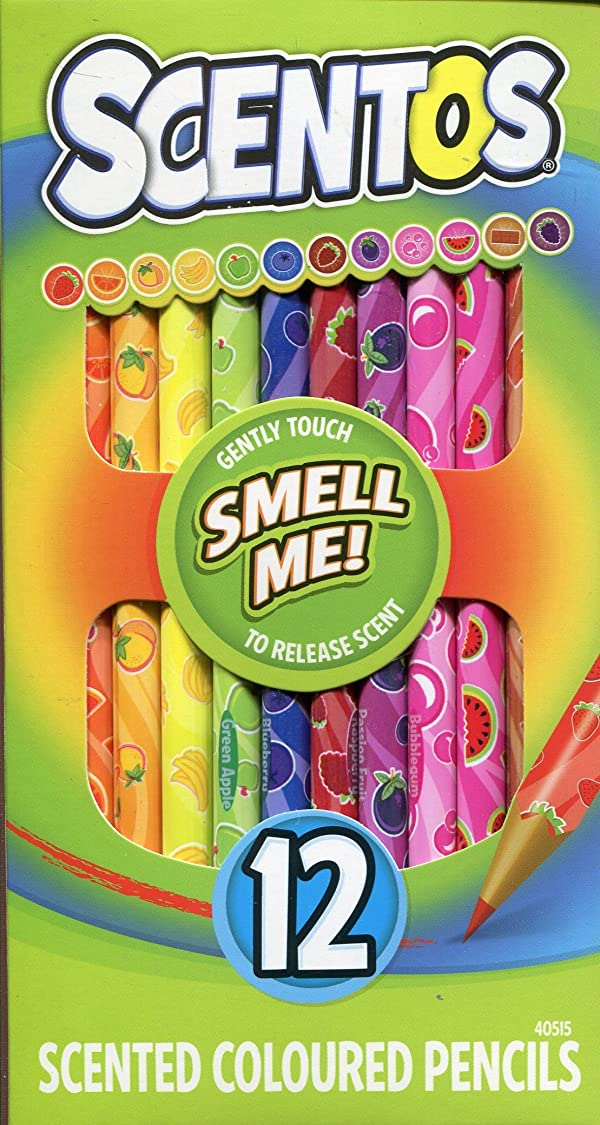 Scentos Scented Colored Pencils (40515) (Tamaño: 8 Inch(1 Pack))