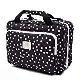 Large Versatile Travel Cosmetic Bag - Perfect Hanging Travel Toiletry Organizer (XL Polka dot) (Color: XL Polka dot, Tamaño: Large)