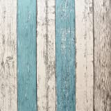 """Wood Peel and Stick Wallpaper 17.8""""x197"""" Self-Adhesive Removable Vintage Wooden Stripes Wallpaper Decor Wall Contact Paper Decals Decoration Textured Panel for Living Room Bedroom"""