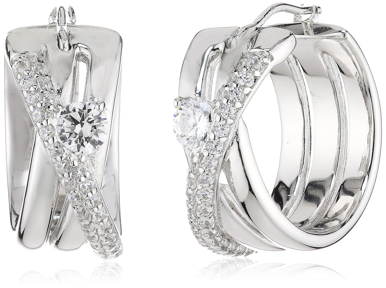 Diamonfire Damen-Creolen 925 Sterling Silber Zirkonia Classic Linie weiß 62/1483/1/082 günstig online kaufen