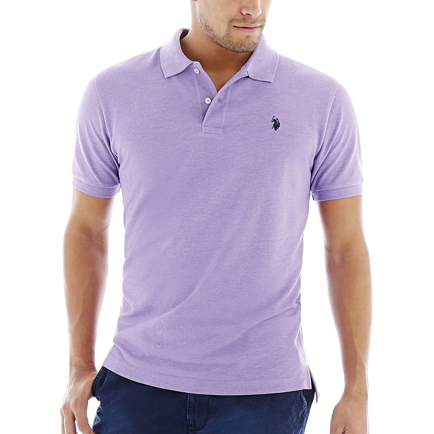 U.S. Polo Assn. Men's Solid Polo Shirt with Small Pony at Amazon Men�s Clothing store