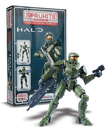 Bandai – Sprukits – Niveau 2 – Halo – Master Chief – Figurine Articulée en Kit