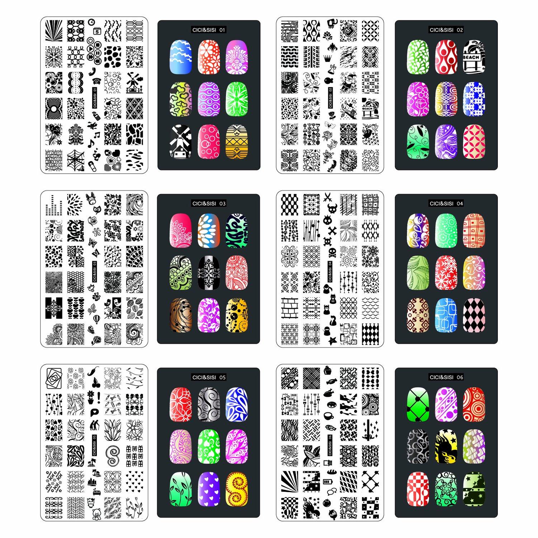 Lacquer Lockdown - Cici & Sisi, Cici & Sisi Set 1, Cici & Sisi Set 2, stamping, nail art, full sized nail images, new image plates 2014, new stamping plates 2014, new nail art plates 2014, new plates 2014, easy nail art, simple nail art, jumbo plates, Cici and Sisi
