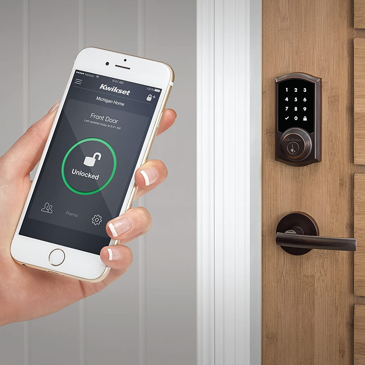 Kwikset Premis Touchscreen Smart Lock Works With Apple