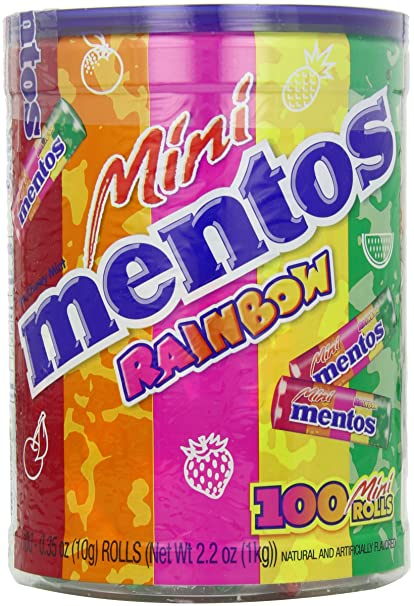 Mentos Rainbow Roll Mentos Mini Rainbow Mint Rolls