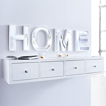wandregal mit 4 schubladen neu da546. Black Bedroom Furniture Sets. Home Design Ideas