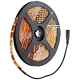 HitLights Luma5 Series (SMD 3528) Weatherproof Cool White LED Light Strip, 300 LEDs, 5 Meters (16.4 Feet) Spool, 12VDC Input (Adapter not included)