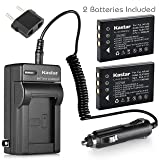 Kastar Battery 2-Pack and Charger for Samsung SLB-1137, Fujifilm NP-60, Kodak KLIC-5000, Olympus Li-20B and Samsung U-CA3, U-CA4, U-CA401, U-CA5, U-CA501, U-CA505, V10, V700, V800, Olympus AZ-1, AZ-2 (Tamaño: 1 AC charger + 2 batteries)