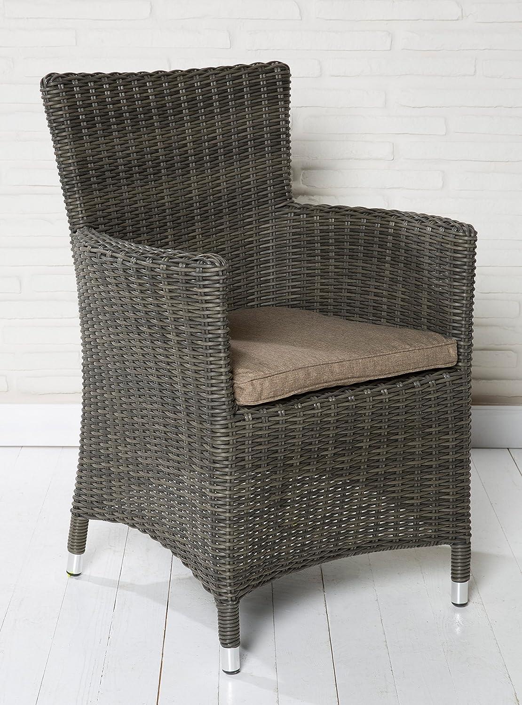 4x Hochwertiger Polyrattan Gartenstuhl Sessel Rattan Stuhl Gartenstühle Gartenmöbel Gartensessel Loungesessel Relaxsessel Positiosstuhl Gartenstühle Balkonstuhl online bestellen