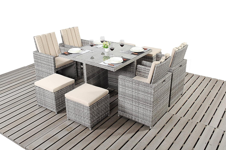 Dallas Rustikal Balkon Gartenmöbel 4-Sitzer-Cube Set