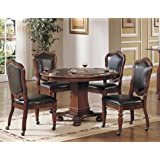 Sunset Trading 5 Piece Bellagio Dining & Game Table Set (Color: Brown)