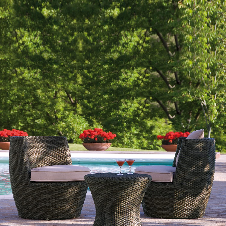 Stern 419836 Set Torre Geflecht mokka, 2 Sessel, Kissen ecru, 1 Tisch jetzt kaufen