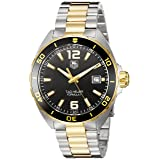 TAG Heuer Men's 'Formula 1' Swiss Quartz Gold and Stainless Steel Dress Watch, Color Two Tone (Model: WAZ1121.BB0879) (Color: black)